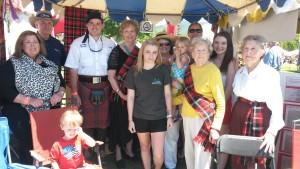 Marjoribanks Stand, Greenville Games - volunteers